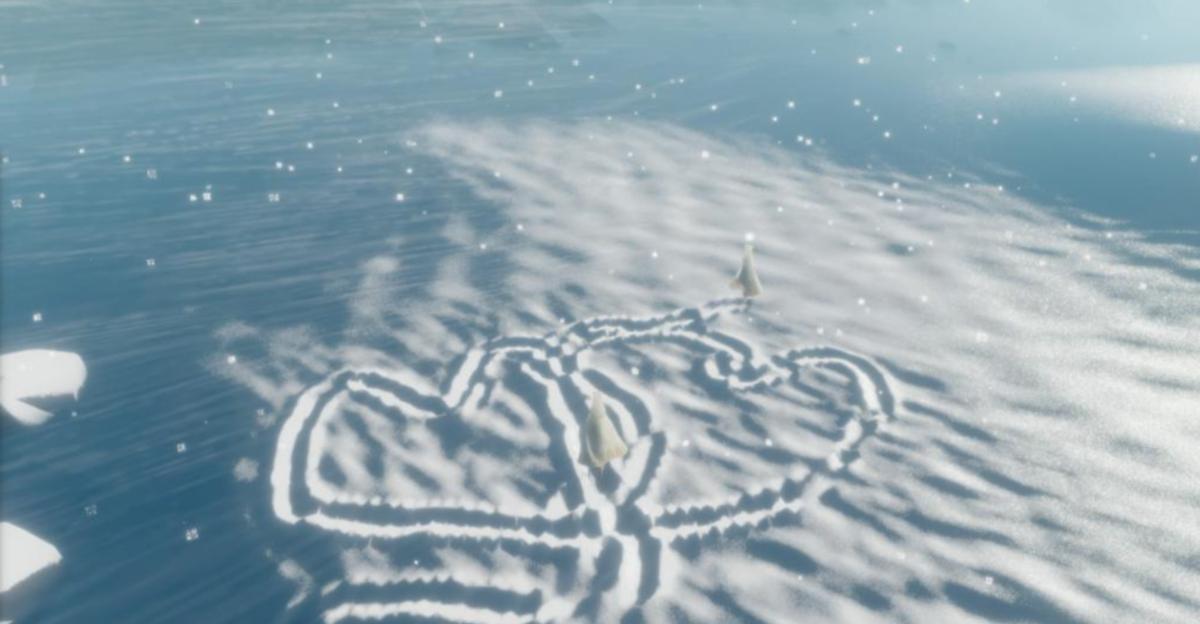 雪地上爱心